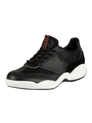 Cruyff Liga Leather Trainers - Black