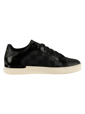Cruyff Patio Lux Leather Trainers - Black