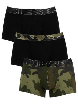 Diesel Damien Instant Looks 3 Pack Trunks - Camo/Black/Black