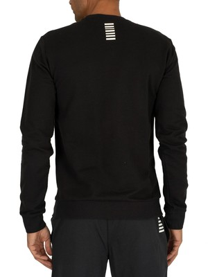 EA7 Logo Sweatshirt - Black