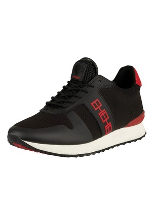 Ed Hardy Mono Runner Trainers - Black/Red
