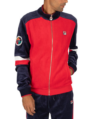 Fila Camden Velour Track Jacket - Red