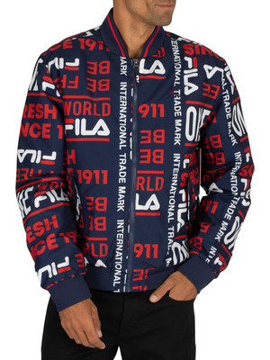 Fila Gionata Harrington Jacket - Peacoat/Red/White