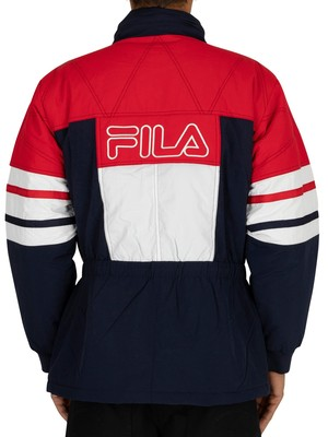Fila Golia Parka Jacket - Peacoat/Red/White