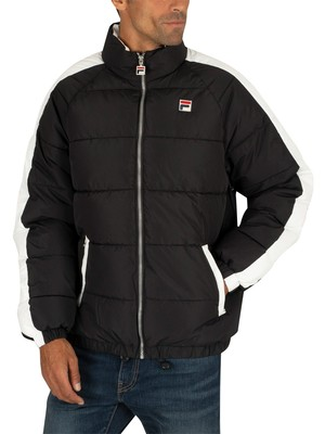Fila Ledger Archive Puffer Jacket - Black/White