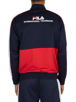 Fila Michele Double Face Track Jacket - Peacoat/White/Red