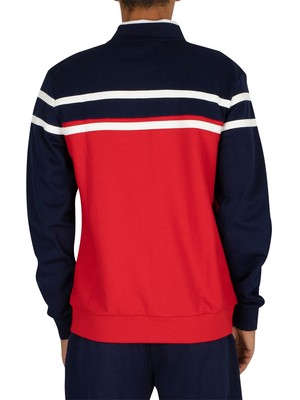 Fila Naso Chest Stripe Track Jacket - Peacoat/Red/White