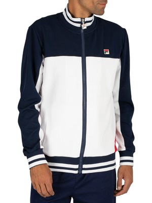 Fila Tiebreaker Funnel Neck Track Top - Peacoat/White/Red