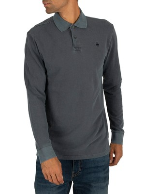 G-Star Core Longsleeved Polo Shirt - Mazarine Blue