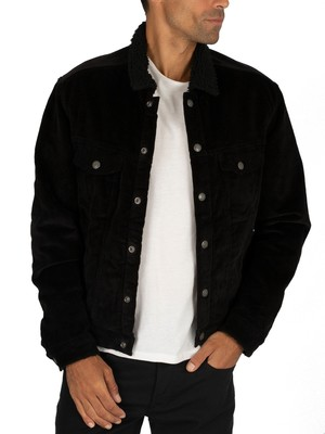 Jack & Jones Alvin Sherpa Jacket - Black