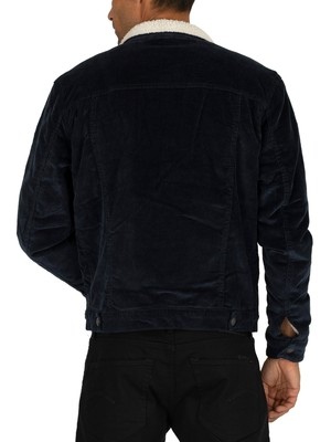 Jack & Jones Alvin Sherpa Jacket - Navy Blazer