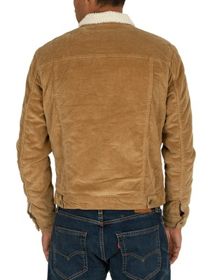 Jack & Jones Alvin Sherpa Jacket - Kelp