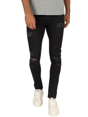 Jack & Jones Liam Original Destroy 571 Jeans - Black