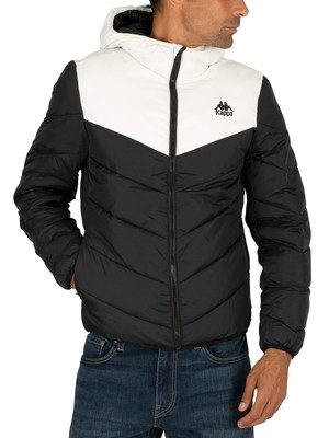 Kappa 222 Banda Amarit Puffer Jacket - Black/White
