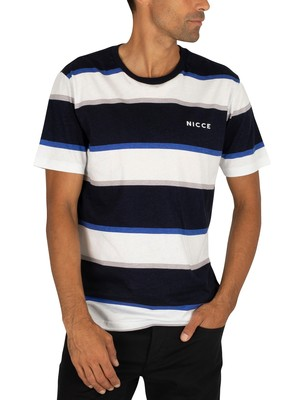 Nicce Colum T-Shirt - Deep Navy/White