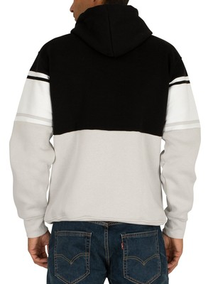 Nicce Panel Pullover Hoodie - Black/Stone Grey
