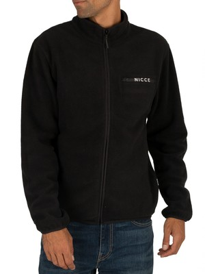 Nicce Verso Fleece Zip Sweatshirt - Black