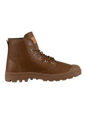 Palladium Pampa Hi Leather Boots - Carafe