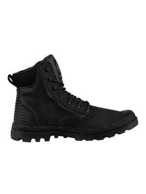 Palladium Pampa Sport Cuff WPR Leather Boots - Black/Black