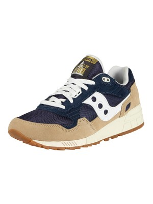 Saucony Shadow 5000 Trainers - Tan/Navy/White