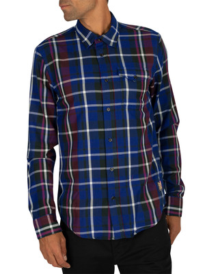 Scotch & Soda Check Shirt - Navy