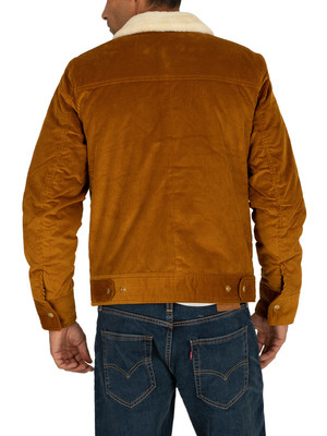 Scotch & Soda Corduroy Trucker Jacket - Nutmeg