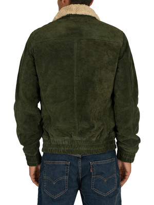 Scotch & Soda Teddy Collar Pilot Jacket - Olive