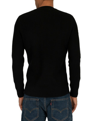 Superdry Academy Crew Sweatshirt - Black