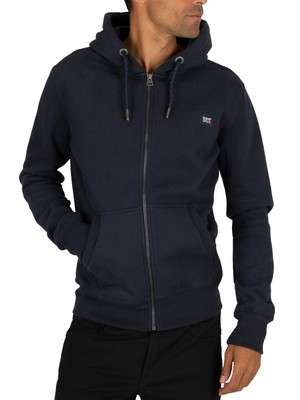 Superdry Collective Zip Hoodie - Darkest Navy