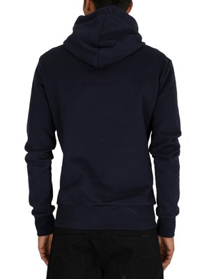 Superdry Downhill Applique Pullover Hoodie - Rich Navy