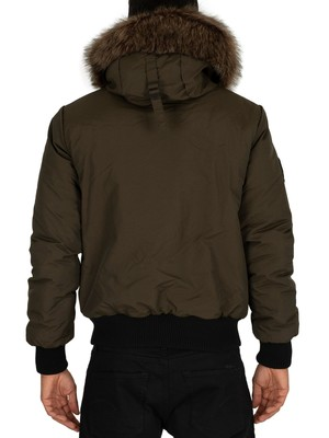 Superdry Everest Bomber Jacket - Army Khaki