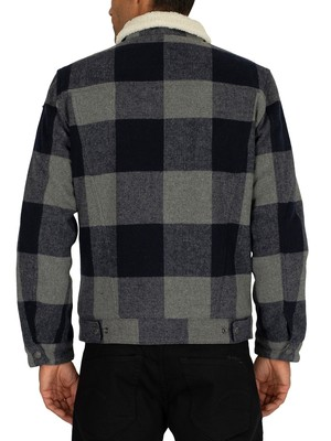Superdry Hacienda Check Jacket - Navy