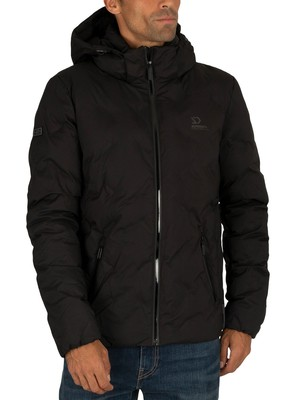 Superdry New Echo Quilt Puffer Jacket - Jet Black