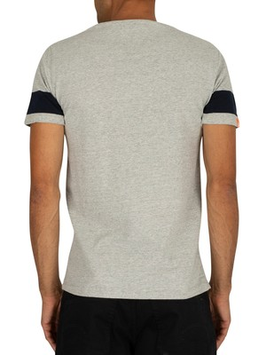 Superdry Orange Label Chestband T-Shirt - Downhill Grey Marl