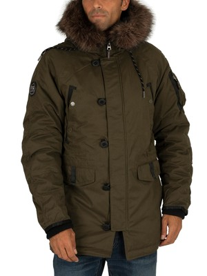 Superdry SDX Parka Jacket - Surplus Goods Olive
