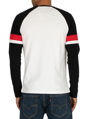 Superdry Tri Colour Raglan Longsleeved T-Shirt - Optic