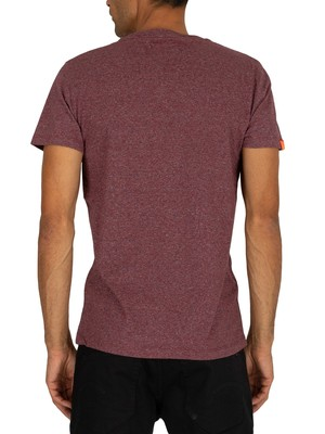 Superdry Vintage Embroidery T-Shirt - Creek Red Marl Feeder