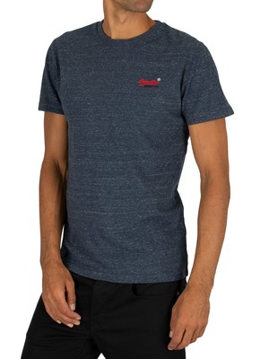 Superdry Vintage Embroidery T-Shirt - Creek Navy Heather
