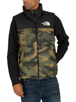 The North Face 1996 Retro Nuptse Gilet - Camo