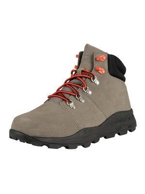 Timberland Brooklyn Low Hiker Leather Boots - Medium Grey Nubuck