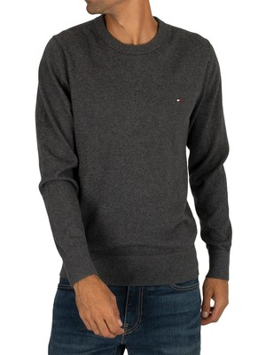 Tommy Hilfiger Cotton Cashmere Crew Knit - Charcoal Heather