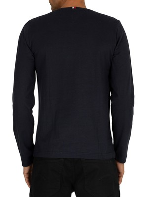 Tommy Hilfiger Graphic Longsleeved T-Shirt - Sky Captain