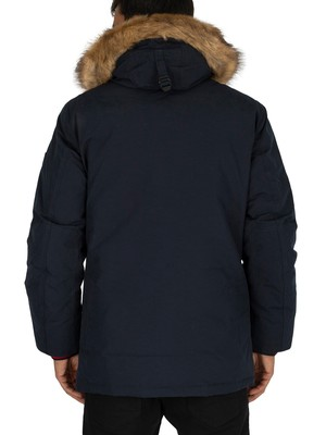 Tommy Hilfiger Hampton Down Parka Jacket - Sky Captain