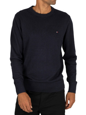 Tommy Hilfiger Pima Cotton Cashmere Crew Knit - Sky Captain
