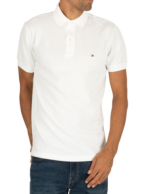 Tommy Hilfiger Placket Regular Polo Shirt - Bright White