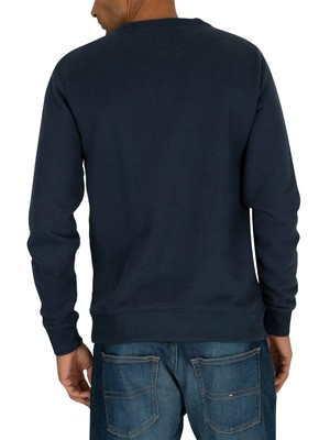 Tommy Jeans Essential Flag Sweatshirt - Black Iris Navy