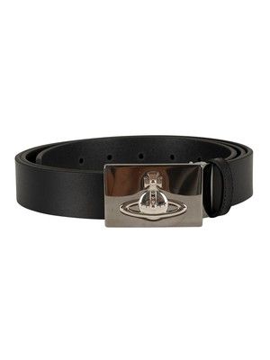 Vivienne Westwood Square Buckle Gun Belt - Black
