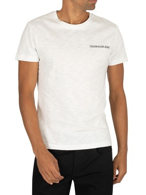 Calvin Klein Jeans Chest Logo T-Shirt - Bright White/Black