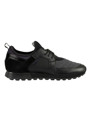 Cruyff Traxx Leather Trainers - Dark Grey