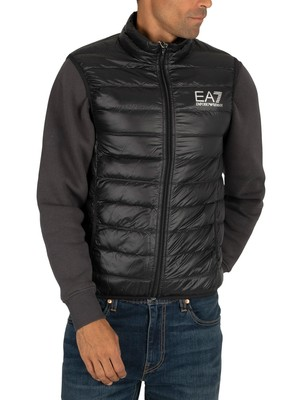 EA7 Down Gilet - Black